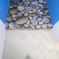 Bodengleiche Dusche, mit leichtem Gefälle