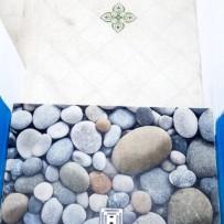 Steindesign-Druck, fugenlos oder mit Fugen in Fliesenform