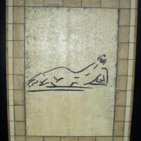 Kombination aus großen Platten-Formaten mit Mosaiken