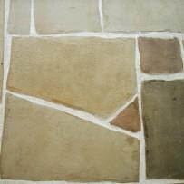 Bruchstein Boden Farbgebung vor Ort mit Kreidefarben