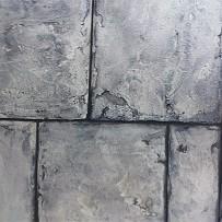 Relief-Stone Oberfläche, mit aufgespachteltem Sand-Gemisch