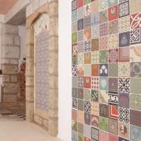 Patchwork-Fliesen-Wand