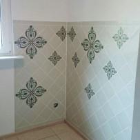 Wandgestaltung Küche-Sitzecke